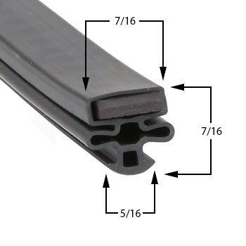 Master-Bilt Model BLG48HD Magentic Door Gasket