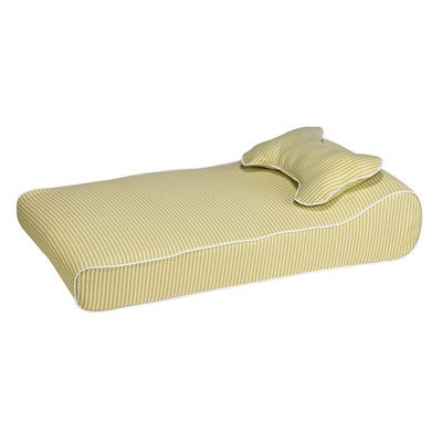 Contour Lounger Dog Pillow Color: Citrus Stripe (Lounger Contour Bowsers)