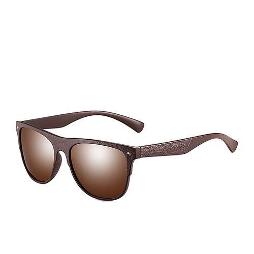 Gafas Pesca Sunglasses Hombres Viaje Brown de TL Negro Hombres C2 Conducción Moda de para polarizadas C3 Gafas Humo Brown Atrás Mate de Gafas Sol O7Saq