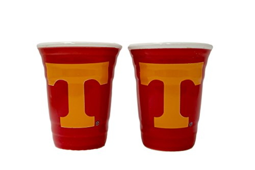 NCAA Tennessee Volunteers 2 oz Red Tailgater Ceramic Shot Glass 2pk