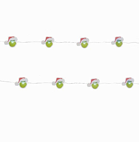 Kurt Adler The Grinch 20 Light Battery-Operated LED Fairy Light Set (Grinch Tree Christmas Decorations)