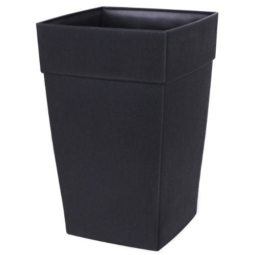 DCN Plastic N351236 Harmony Tall Planter, Black, 12 by 18-Inch