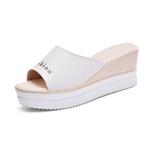 Thick sandals EU35 L PENGFEI B fashion Slope summer slippers UK3 225mm Outdoor Color Non with bottom Size slip Female 5 C slippers aX8qa