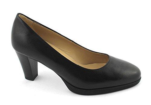 Black 19100 Plateaux en Nero Nero Jardins à Talons Dcollet Giardini Chaussures Cuir de Noires t1Bx5
