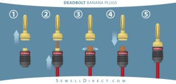 deadbolt banana plugs 12 pair by sewell direct ca electronics