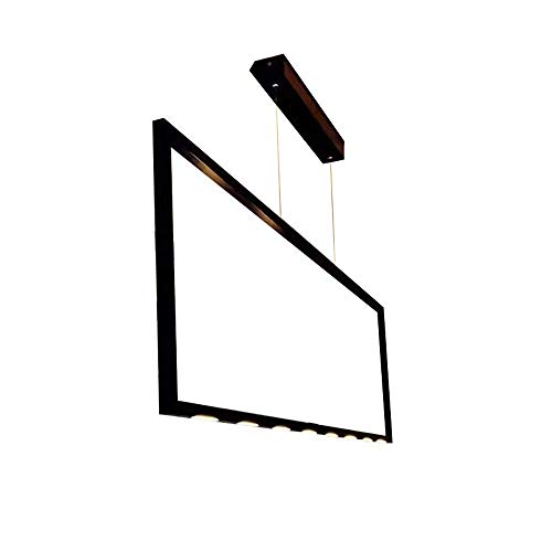 Mengzhu-Michelle Office Modern LED Hanging Lamp Nordic Minimalist Design Pendant Lamp Living Room Dining Room Restaurant Studio Hanging Lamp Creative Personality Long Stripes Art Decoration