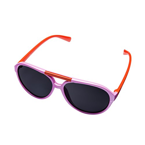 MIRA MR-200 Kids Aviator Sunglasses - Polarized Lenses with 100% UVA and UVB Protection - Comfortable Girls Retro Design - Includes Presentation Box & Microfiber Carrying Bag