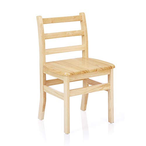 Classic Natural Solid Wood Ladderback Chair - 14