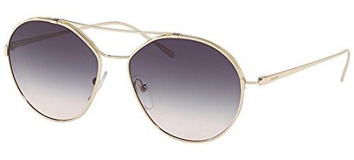 Prada Damen Sonnenbrille 0PR68TS ZVN117, Gold (Pale Gold/Pink Silverlaserflower), 63
