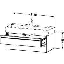 Duravit Waschtischunterschrank wandh. X-Large 443x1150x448mm 2 Schka, für 045412, weiss hochglanz, X