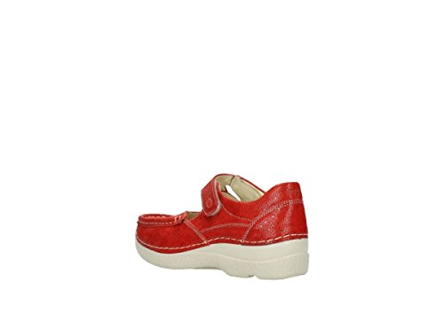 Chaussures Comfort À Bride Wolky 90570 Rouge Nubuck Fever Roll 5dp4EqExw