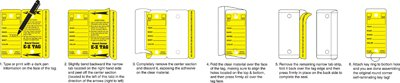 Car Key Tags, Self Laminating Plastic Automotive Key Tags with Ring, Bulk Car Dealer Supplies, Round Corner, Yellow, Box of 250