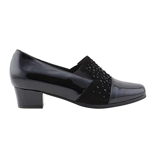 Doctor Licra Negro Zapatos Piel Y Cutillas qYAPw6tU