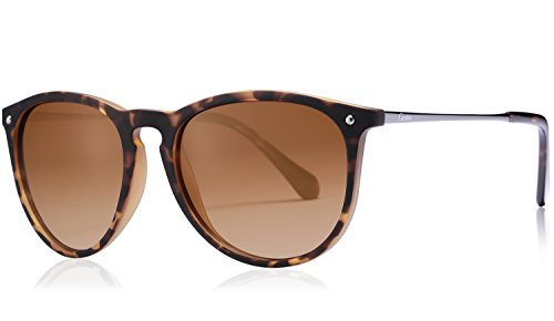 Carfia Vintage Polarized Sunglasses for Women Men, 100% UV400 - Best Sunglass