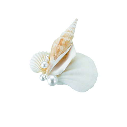 Shell Flower Clasp (Lillian Rose Seashell Boutonniere,)
