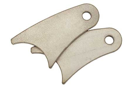 RuffStuff Specialties Various Axle Mount Shock Tabs, Pair (Long Curved)