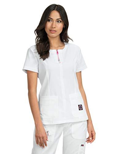 KOI lite 317 Women's Serenity Scrub Top White L