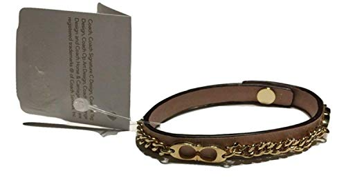 (Coach F99992 Leather Bracelet )