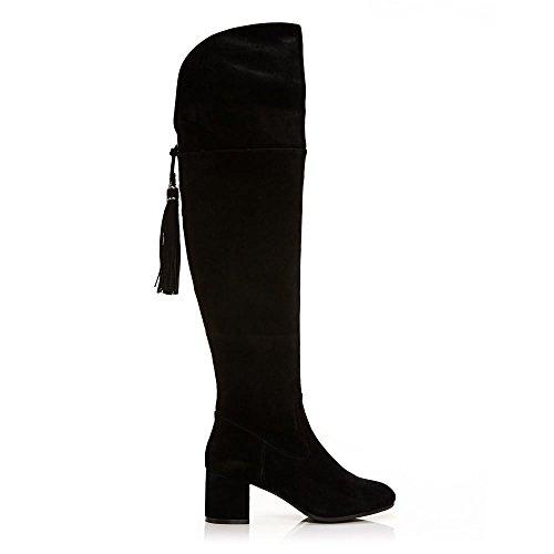Moda In Pelle Laarzen En Booties Zwart Zwart