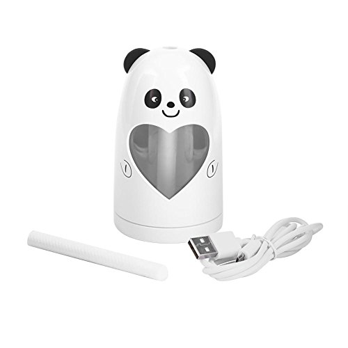 Mist Humidifier Ultrasonic USB Portable Air Humidifiers Purifier for Cars Office Desk Home Babies kids Bedroom 180ML Mini Desktop Cup Humidifier(Panda) by YosooXX (Image #9)