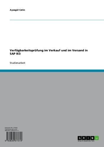 Download Verfügbarkeitsprüfung im Verkauf und im Versand in SAP R/3 (German Edition) Pdf