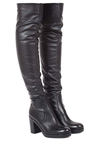 Leather Black Women's P2021d Boots Strategia wWAqzYx6ng