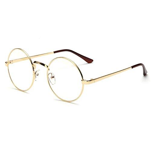 Sunglasses de Rétro Monture HENGSONG Rondes Myopie Metallique Noir Lunettes Argent Lunettes xn1gFCHwTq