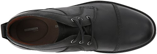 Clarks Mens Currington Top Chukka Boot, Black Leather, 10.5 M US