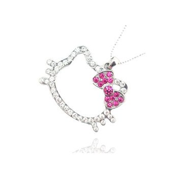 Hello Kitty Head Shaped Pendant Charm Necklace Chain