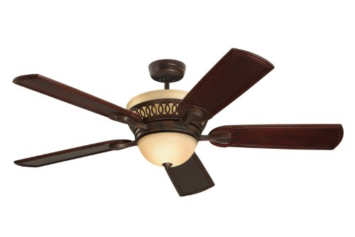 Emerson Ceiling Fans CF440VNB Braddock, Indoor Ceiling Fan With Light And Remote, 54-Inch Blades, Venetian Bronze Finish