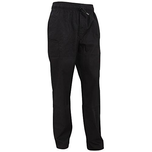 Le Chef Chefwear Unisex Professional Work Pants / Trousers (L) (Black)