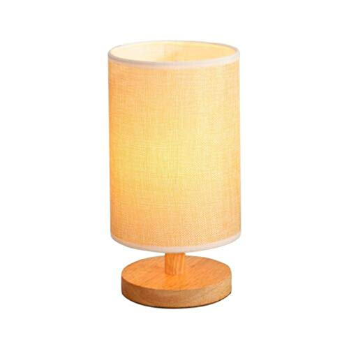 Redvive Top Bedside Lamp Night Light Warm White Bulb Dimmable Gift Wood Table lamp