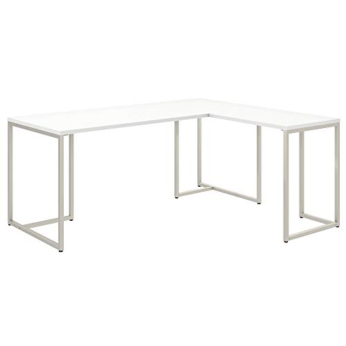 Office by kathy ireland Method 72W L Shaped Desk with 30W Return in White
