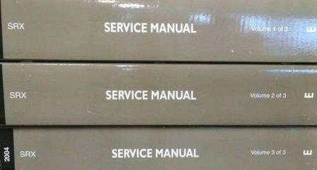 2004 Cadillac SRX TRUCK Service Repair Shop Manual Set DEALERSHIP FACTORY 04 NEW