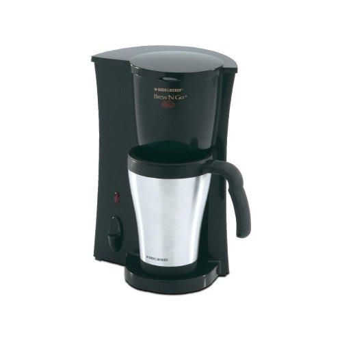 Black & Decker(R) DCM18S Brew 'N Go(TM) Deluxe Coffee Maker with Stainless Steel Mug Black & Decker