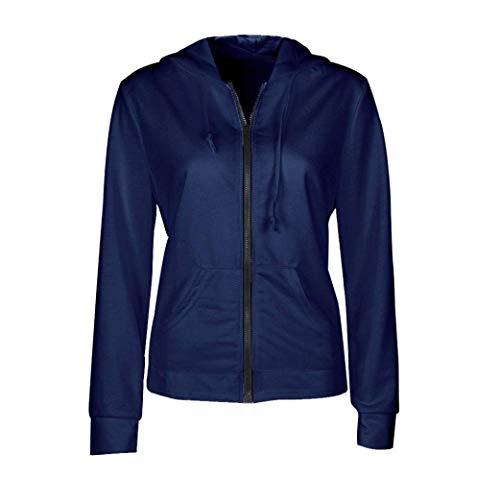 couleur Veste Zhrui à Taille Noir Bleu Pour Xs Capuche Sweat En Femmes xaaw4fdq