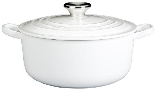 Le Creuset Enameled Cast-Iron 5-1/2-Quart Round French Oven, White