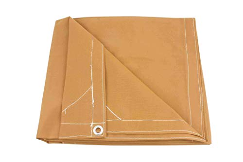 12' x 20' Tan Canvas Tarp 12oz Heavy Duty Water Resistant (Tarp Tan Heavy Duty Canvas)