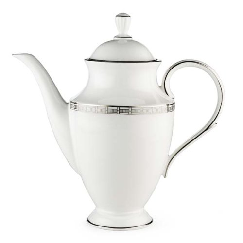 Pot Banded Platinum Coffee (Lenox Timeless Bone China Platinum Banded Coffeepot)
