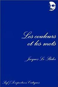 Book's Cover ofCouleurs et les mots (les)