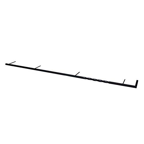 ロートアイアン外壁 ウォールアクセサリー ロートアイアンバー コーナータイプ1200 取付ピン付属 捻り棒 B0793R5M1V