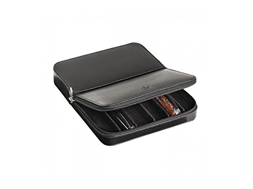 Visconti Dreamtouch Leather Black Six Pen Case by Visconti
