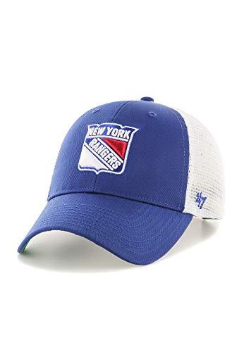 47_brand Gorra NHL New York Rangers MVP Trucker Branson Azul Talla: OSFA (Talla única para Todos sexos)