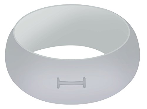 Mechanical Roller Original Design (IFREEST Womens Mens Silicone Wedding Rings Affordable Outdoor working Rubber Band Flexible Comfortable Fit For Active Atheltes, Yoga, Exercise, Fitness - Light Gray Size 9)
