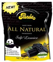Panda B64091 Panda All Natural Soft Licorice - 12x6 Oz