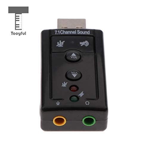 DDV-US - External USB Audio Sound Card Converter Adapter 3D Virtual 7.1CH for ()