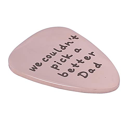 We Couldn\'t Pick a Better MensDad Guitar Pick Custom Gift for Daddy Stainless Steel -Rose Gold