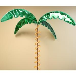 Palm Bent Tree - Roman Lights 169481 7-Feet Tall Holographic Ropelight Palm Tree-Plugs In Statue