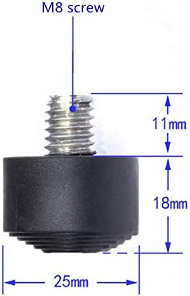 8pcs M8 Non-Slip Rubber Tripod Foot Heavy Suppression Pads for Camera Tripod Monopod
