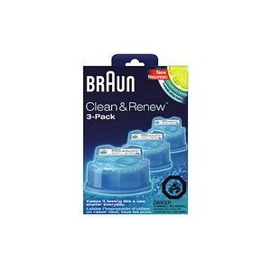 Braun Clean and Renew 3 Pack, Cartridge, Refill, Replacement Cleaner, Cleaning Solution (Braun Clean Renew compare prices)